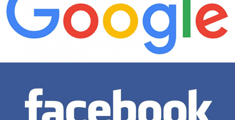 """Undated Google and Facebook logos as  the technology companies have announced plans to fight the spread of fake news by placing tighter restrictions on how such sites make money from advertising. PRESS ASSOCIATION Photo. Issue date: Tuesday November 15, 2016. Google has revealed it is working on a policy change to its AdSense online advertising network that will prevent websites with misleading content from using it to earn money, while Facebook has said it is updating its advertising policy to restrict adverts appearing alongside """"misleading or deceptive"""" content. See PA story TECHNOLOGY Social. Photo credit should read: Google/Facebook/PA Wire  NOTE TO EDITORS: This handout photo may only be used in for editorial reporting purposes for the contemporaneous illustration of events, things or the people in the image or facts mentioned in the caption. Reuse of the picture may require further permission from the copyright holder."""
